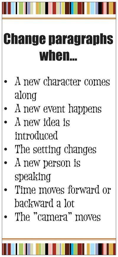 change paragraph